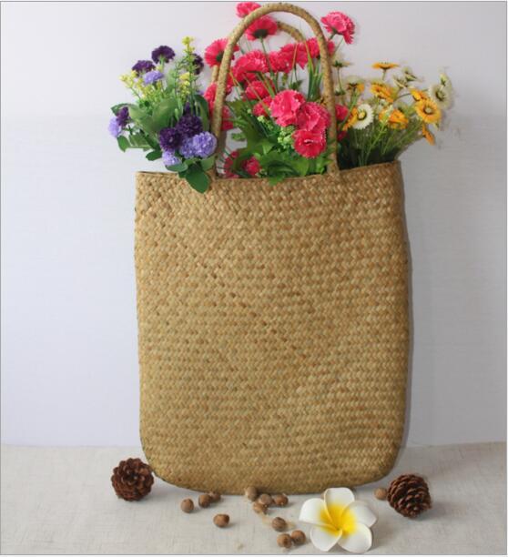 Kinesisk Immateriell Kulturarv Willow Straw Bag Stor Stro Handväskor - Väskor för bagage och resor - Foto 5