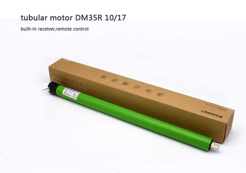 Maxmum load weight 24kgs Dooya best Quality 10NM Tubular Motor 230V DM35R with remote For Motorized Rolling Blinds