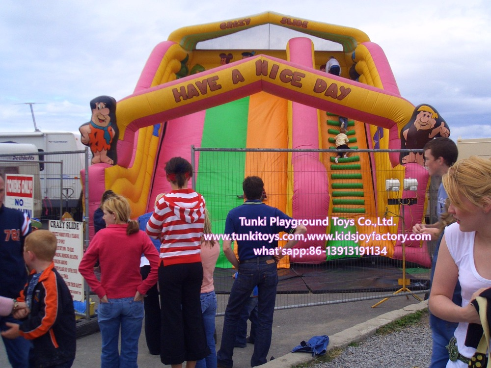 giant commercial inflatable cartoon slide