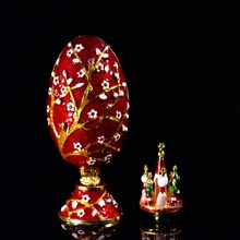 QIFU 優れた品質ファベルジェのスタイルの卵の宝石箱