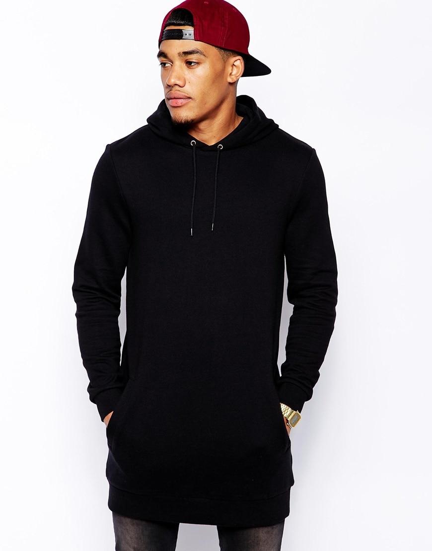 Free shipping 2015 fashion longline hoody sweatshirts men for How to not sweat through shirts