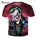 Raisevern Novo O Coringa Camiseta 3d Engraçado Comics Personagem Coringa com Estilo de Poker 3d T-shirt do Verão Roupa T-shirt Top Impressão Cheia