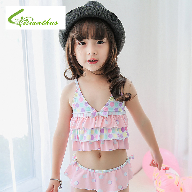 1-7y Baby Badeanzug Mädchen Kleidung Dot Gedruckt Kinder Bademode Baby Badeanzug 2019 Marke Sommer Bademode Kinder Kleidung
