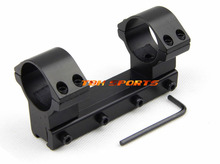 30mm one piece scope mount high type 11mm rail riflescope ring with stop pin Free shipping