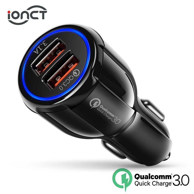 Car USB Charger Quick Charge 3.0 qc 2.0 Mobile Phone Charger 2 Port USB Fast Car Charger for iPhone Xiaomi Tablet Car-Charger