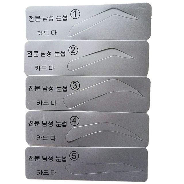 NEW-Eyebrow Stencil Eyebrow Shapeing Kits Templates Shaper Set of 5 2