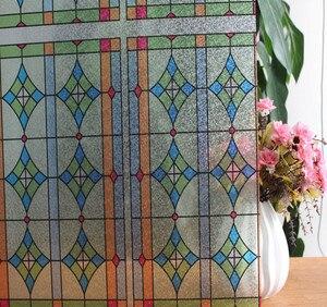 Непрозрачные виниловые пленки для окон в ретро-стиле, самоклеящиеся наклейки из стекла