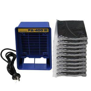 Image 1 - Absorbeur de fumée en fer à souder 220V/110V, extracteur de fumée ESD, Instrument de fumée avec 10 éponges de filtre à charbon actif gratuites