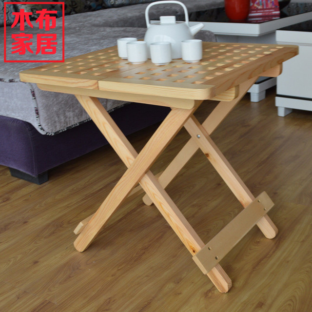 Exceptional Wooden Furniture, Modern Creative Wood Folding Cloth Hollow Portable Small  Table Small Coffee Table Chess
