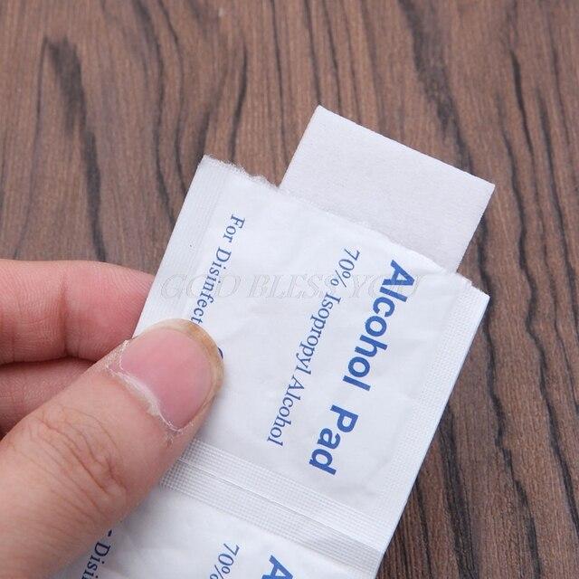 100Pcs/Box Alcohol Wipe Pad Medical Swab Sachet Antibacterial Tool Cleanser 4