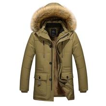 Zimní teplá bunda pro muže s kapucí