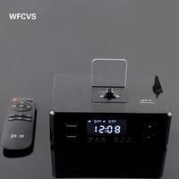 Best Cool Amplifier Docking BT Speaker With FM Clock Function Portable Wireless Speaker For Iphone Mobile