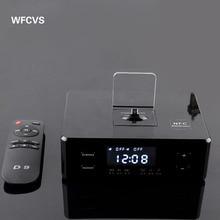 WFCVS Best Cool Amplifier Docking BT Speaker With FM Clock Function Portable Wireless Speaker
