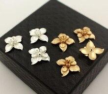 Folha Estames Da Flor Encantos de Metal de Bronze Achados DIY Materiais Acessórios Jóias DIY Escolher Cores