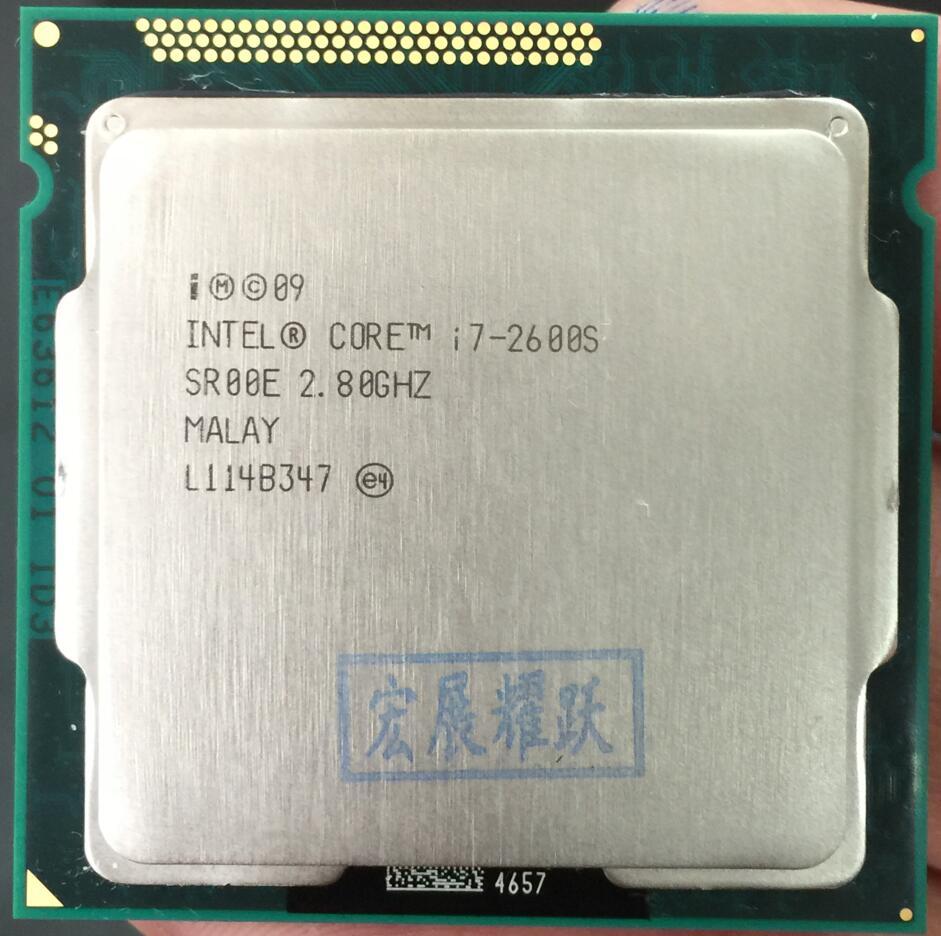 Gratuite livraison D'origine Processeur Intel core i7 2600 s I7-2600S Quad Core 2.8 ghz LGA 1155 TDP 65 w 8 mb Cache 32nm CPU De Bureau