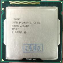 Ücretsiz kargo orijinal İşlemci Intel core i7 2600S I7 2600S dört çekirdekli 2.8GHz LGA 1155 TDP 65W 8MB önbellek 32nm masaüstü işlemci