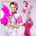 Горячие Продажи Новый Древняя Плюс Размер Yangko Платье Традиционный Китайский Танцевальные Костюмы Roupa Восточные Танцевальные Костюмы