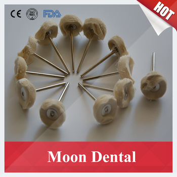 Wholesale Price 500 Pieces/lot Dental Polishing Grinding Material White Cloth Wheel With Handle for Polishing in Dental Labs