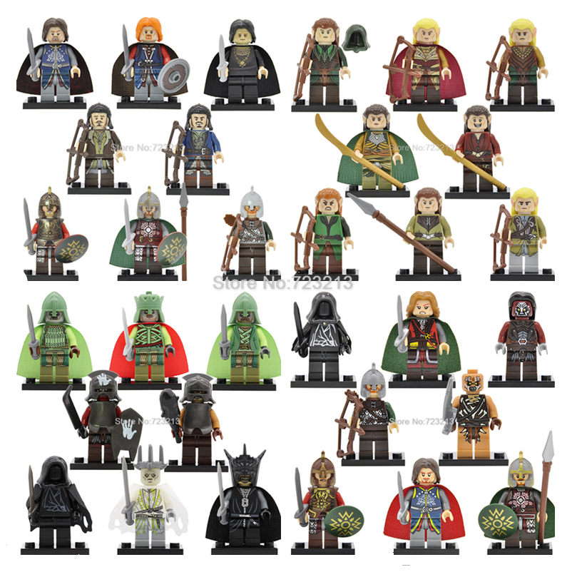 32pcs/lot The hobbit Figure Set Haldir Tauriel Legolas Lord of the Rings Rohan King Theoden Building Blocks Model Bricks Toy 1 6 scale full set soldier the lord of the rings elven prince legolas action figure toys model for collections