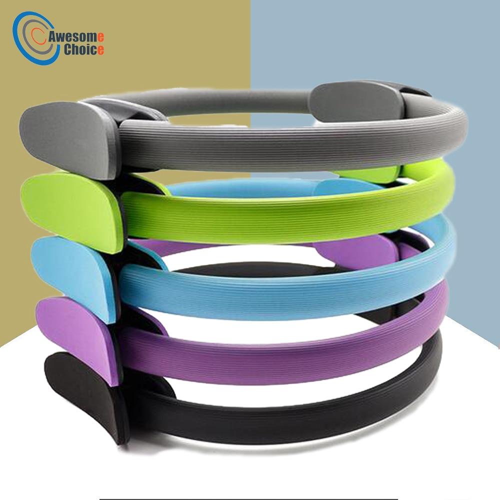 все цены на Quality Yoga Pilates Ring Magic Wrap Slimming Body Building Training Heavy Duty PP+NBR Material Yoga Circle 5 colors онлайн