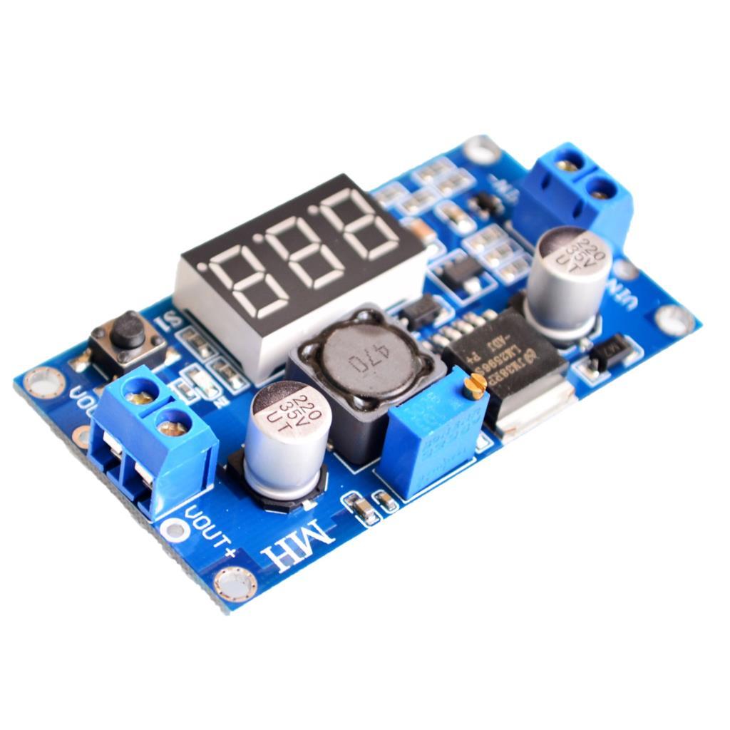 LM2596 DC 4.0~40 to 1.3-37V Adjustable Step-Down Power Module + LED Voltmeter