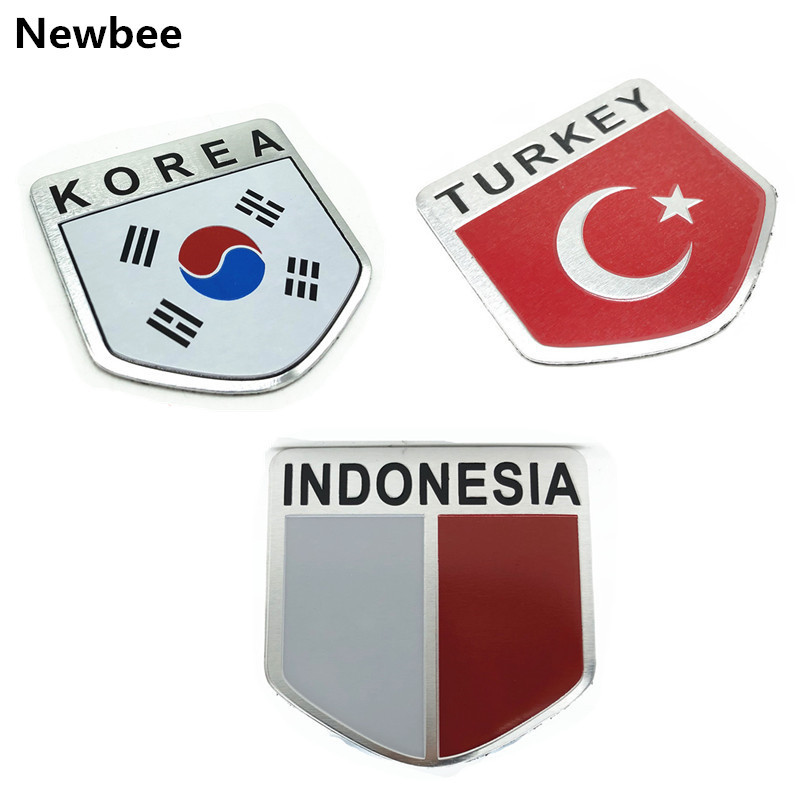 Asia Nation Flag 3M Graphics Vinyl Sticker Badge Car Decal Emblem Decor