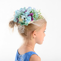 2016 New Fashion Bride Cap With Flowers Western Style Wedding Hats Headdress Photography Women Headwear Brides