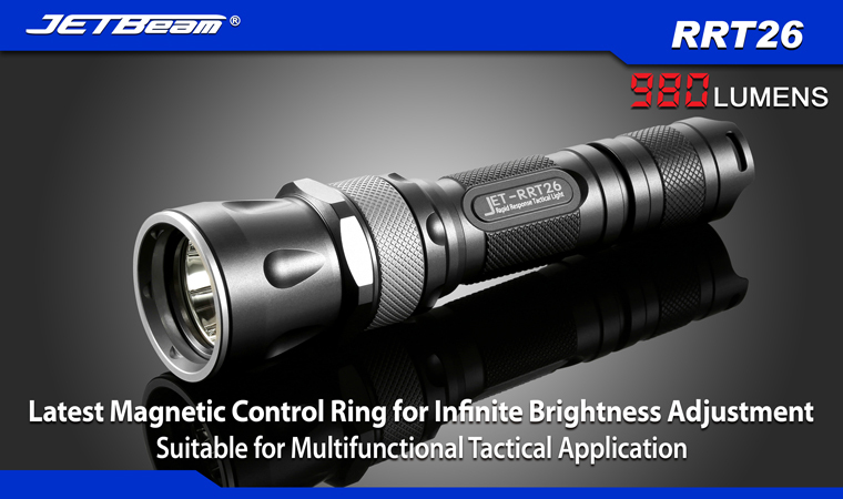 Free Shipping 2014 Original JETBEAM RRT26 Cree XM-L2 LED 980 lumens flashlight daily torch Compatible with 18650 16340 battery lumintop tactical flashlight p16x 18650 flashlight with battery with cree xm l2 led torch type max670 lumens