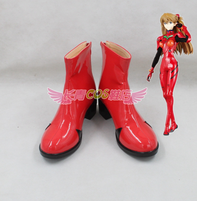 NEON GENESIS EVANGELION Asuka Langley Soryu Cosplay Red Shoes(China)