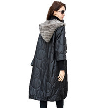 Genuine Leather Jacket Women Tops Sheepskin Coat Female Jacket Real Women's Fur Coat Autumn Winter Mink Fur Hooded Thick ZT1601(China)