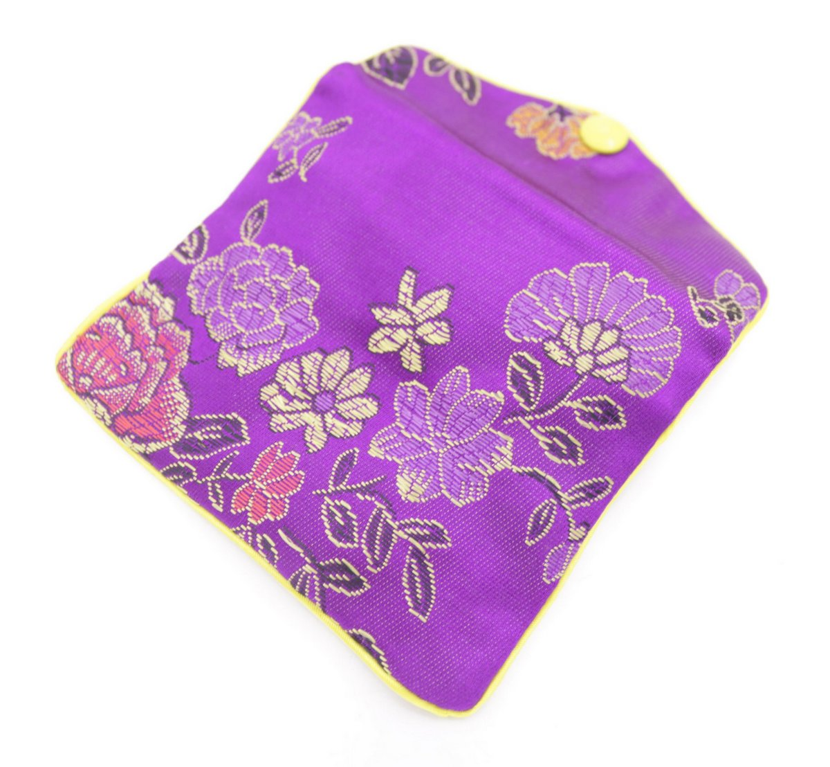 10 pcs purple flower baldachin cloth gift jewelry bags pouches 80mmx100mm