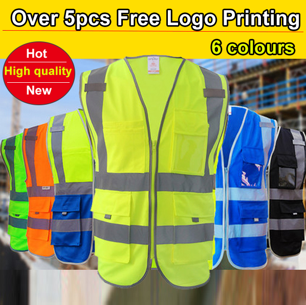 SFvest Building construction vest safety Hi vis vest workwear clothing safety reflective vest construction vest free shipping jiade two tone hi vis safety vest reflective