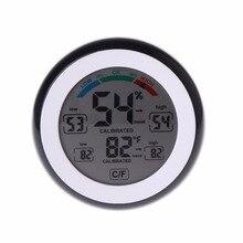купить Digital Indoor Thermometer Hygrometer Touchscreen Temperature Gauge Humidity Monitor Tester Tools дешево