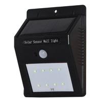 LED Solar Power PIR Motion Sensor Wall Light Outdoor Waterproof Energy Saving Street Yard Path Home Garden Security Lamp