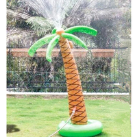 160cm Giant Inflatable Hawaiian Palm Tree Yard Sprinkler For Children Adult Pool Party Lawn Beach Outdoor Toys Water Spray Ball