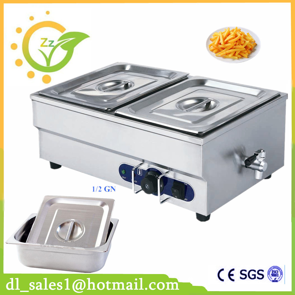 stainless steel Bain Marie table top electric bain marie buffet food warmer electric food warmer container fast food leisure fast food equipment stainless steel gas fryer 3l spanish churro maker machine