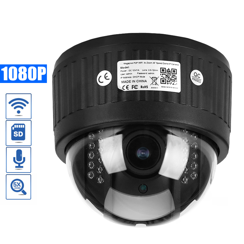 OwlCat HD 1080P Indoor Dome PTZ IP Camera 5X Zoom Auto Focus 2.7-13.5mm lens Audio/Microphone 2.0MP SD Slot Wifi CCTV CameraOwlCat HD 1080P Indoor Dome PTZ IP Camera 5X Zoom Auto Focus 2.7-13.5mm lens Audio/Microphone 2.0MP SD Slot Wifi CCTV Camera