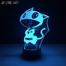 Cool Boys Led Night Lamp Morgana Game Persona 5 Nightlight for Childrens Birthday Gift Best Dropshipping Usb Light 3d