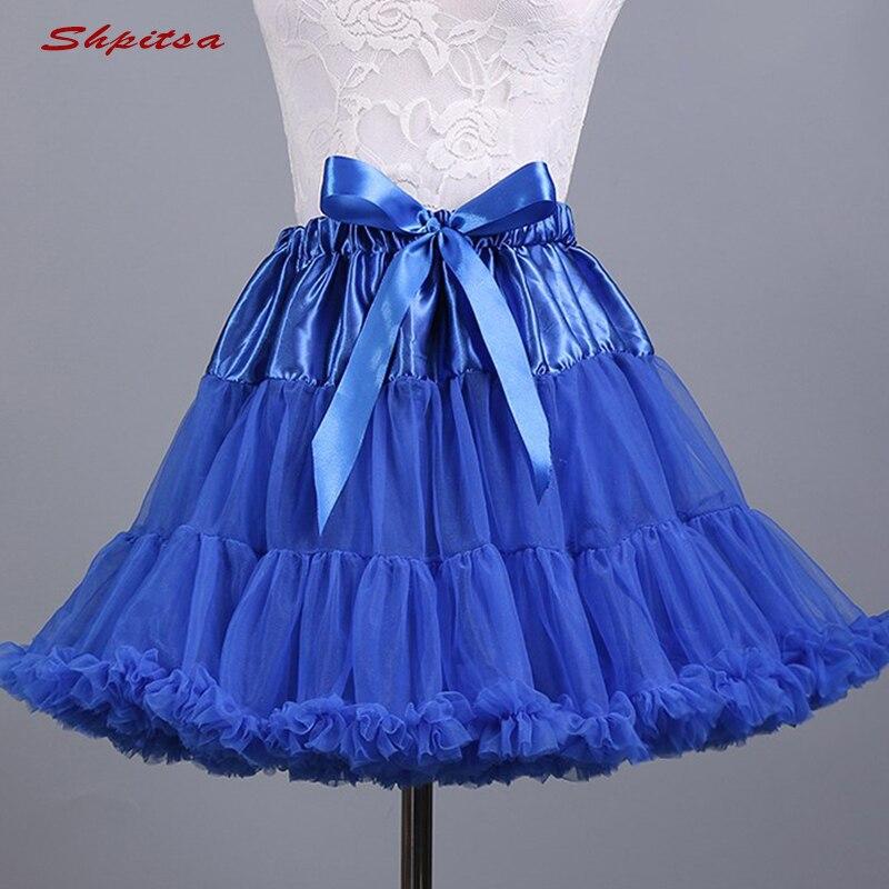 Image 5 - Black or White Short Petticoats for Wedding Girl Tulle Skirt Rockabilly Lolita Woman Girl Underskirt Crinoline PettycoatPetticoats   -