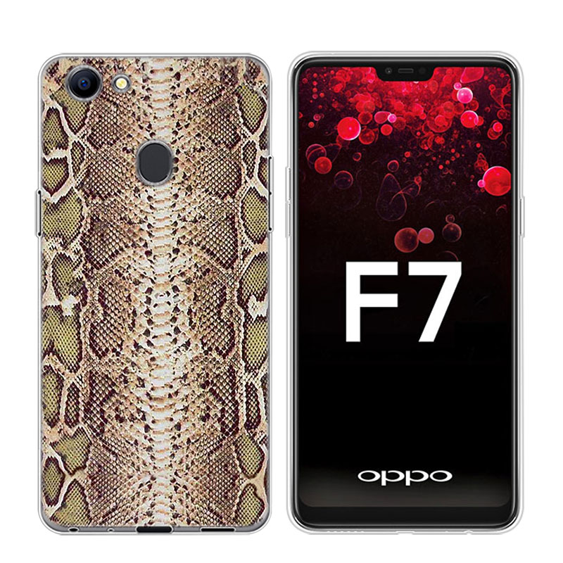 Transparent Soft Silicone Phone Case Snakes for OPPO F5 F7 F9 A5 A7 R9S R15 R17 Cover in Fitted Cases from Cellphones Telecommunications