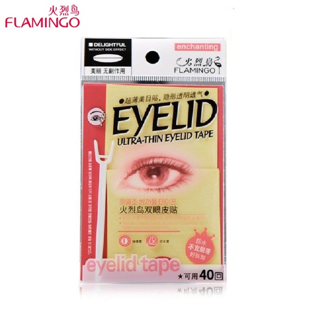FreeShipping Brand Flamingo Notarget Ultra-thin Eyelid Paste Medical standard 200Pairs Invisible Double Eyelid Tape Sticker