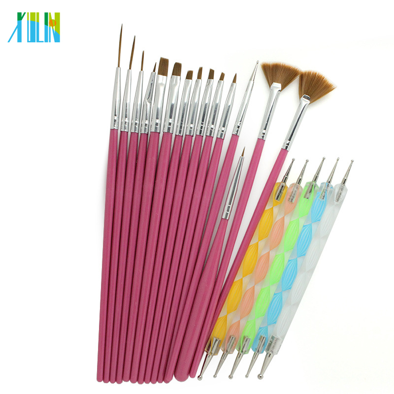 Nail Art Brush Tools Set UV Gel Acrylic Nail Art Brush Set