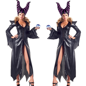 Image 1 - high quality Maleficent costume PU Movie Maleficent cosplay Costumes Adlut sexy halloween Costumes for Women Party fancy dress
