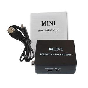 HDMI к HDMI SPDIF, коаксиальный, наушники, 2CH/5.1CH, аудио экстрактор конвертер аудио сплиттер с usb кабелем