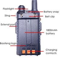 128ch 5w vhf uhf 2pcs Baofeng UV5R מכשיר הקשר מקצועי CB רדיו Baofeng UV5R משדר 128CH 5W VHF & UHF כף יד 5R לציד רדיו (3)