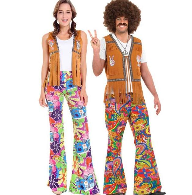 Ladies Mens 60s 70s Retro Hippie Go Go Girl Disco Costume Fancy Dress Hen Party Couple  sc 1 st  AliExpress.com & Ladies Mens 60s 70s Retro Hippie Go Go Girl Disco Costume Fancy ...