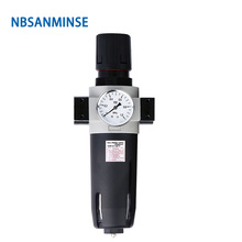 NBSANMINSE  Air Preparation Units UFR / FR  1/4 3/8 1/2 3/4 1 Air Filter Regulator Piston Design long Service Life  Auto Drain