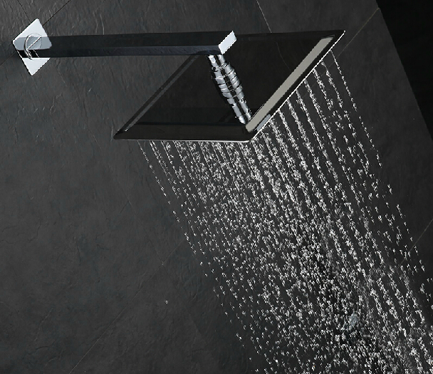 Square shower head 12 inch stainless steel ultra thin rainfall ...