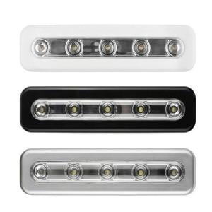 Image 3 - Bộ 5 Bóng LED Tủ Đèn Có Keo Dán Miếng Dán Đèn Cho Nhà Bếp Phòng Ngủ Tủ Ngăn Kéo Tủ Quần Áo Tủ Quần Áo Cảm Biến Chuyển Động Đèn LED