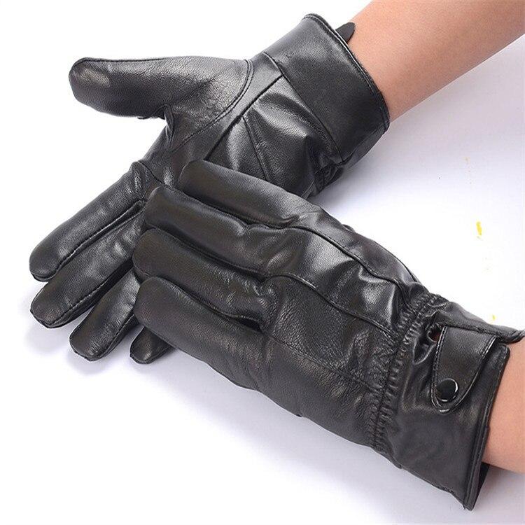 winter men 39 s genuine leather gloves 2017 new brand touch screen gloves fashion warm black gloves. Black Bedroom Furniture Sets. Home Design Ideas